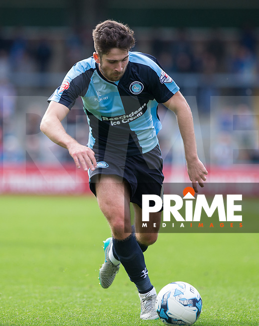 Max Kretzschmar of Wycombe Wanderers in action during the Sky Bet League 2 match between Wycombe Wanderers and Hartlepool United at Adams Park, High Wycombe, England on 5 September 2015. Photo by Andy Rowland.