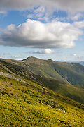 Southern Presidential Range from Jewell Trail during the summer months in the White Mountains, New Hampshire USA