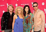 Little Big Town - Phillip Sweet, Kimberly Roads Schlapman, Karen Fairchild and Jimi Westbrook at the 2008 ACM Awards at MGM Grand in Las Vegas, May 18 2008.