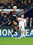 Tottenham's Ben Davies tussles with Leverksen's Kevin Kampl during the Champions League group E match at the Wembley Stadium, London. Picture date November 2nd, 2016 Pic David Klein/Sportimage