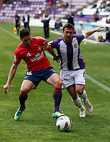 Real Valladolid´s Balenziaga and Osasuna´s Cejudo during match of La Liga 2012/13. 31/03/2013. Victor Blanco/Alterphotos /NortePhoto