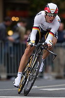 GEELONG, 30 SEPTEMBER - Tony MARTIN (GER) competing at the 2010 UCI Road World Championships time trial event in Geelong, Victoria, Australia. (Photo Sydney Low / syd-low.com)