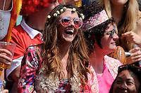 Fans enjoying the sunshine and the party atmosphere during the iRB Marriott London Sevens at Twickenham on Sunday 13th May 2012 (Photo by Rob Munro)