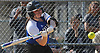 Keri McLaughlin #25 of Calhoun connects for a three-run home run to centerfield in the bottom of the sixth inning of a Nassau AA-I/AA-II crossover game against Baldwin at Calhoun High School on Saturday. April 14, 2018. Calhoun won by a score of 9-0.