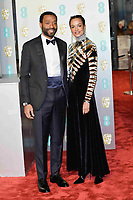 LONDON, UK - FEBRUARY 10: Chiwetel Ejiofor and Frances Aaternir at the 72nd British Academy Film Awards held at Albert Hall on February 10, 2019 in London, United Kingdom. Photo: imageSPACE/MediaPunch<br /> CAP/MPI/IS<br /> ©IS/MPI/Capital Pictures