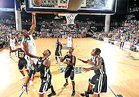 NBA player Chris Bosh shoots at the South Florida All Star Classic held at FIU's U.S. Century Bank Arena, Miami, Florida. .
