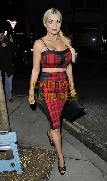 LONDON, ENGLAND - FEBRUARY 27: Nicola McLean attends the Inanch London hair extensions brand launch party, Iberica Marylebone bar &amp; restaurant, Great Portland St., on Thursday February 27, 2014 in London, England, UK.<br /> CAP/CAN<br /> &copy;Can Nguyen/Capital Pictures