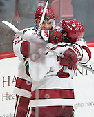Sean Malone (Harvard - 17), Colin Blackwell (Harvard - 63) - The Harvard University Crimson defeated the visiting Rensselaer Polytechnic Institute Engineers 5-2 in game 1 of their ECAC quarterfinal series on Friday, March 11, 2016, at Bright-Landry Hockey Center in Boston, Massachusetts.