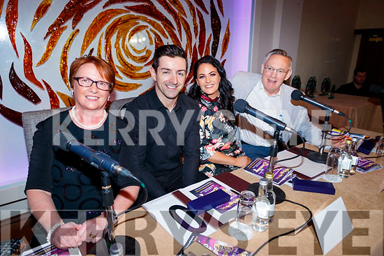 Judges Elma Walsh, Aidan O'Mahony, Cassie Leen and Tom McCormack, pictured at Sickly Come Dancing, UHK, at Ballygarry House Hotel & Spa, Tralee on Friday night last.