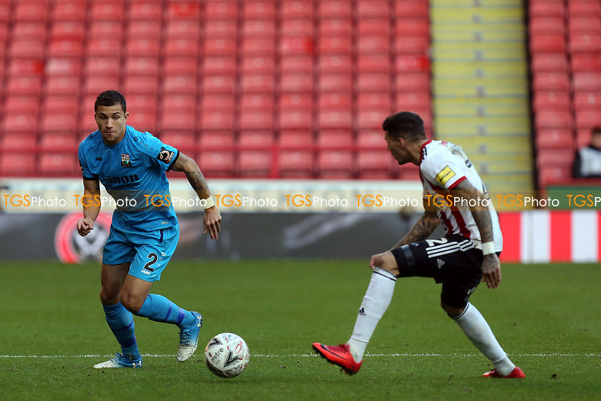 Cheye Alexander of Barnet and Marvin Johnson of Sheffield United during Sheffield United vs Barnet, Emirates FA Cup Football at Bramall Lane on 6th January 2019
