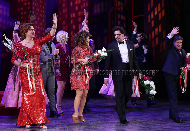 """Santino Fontana, Sarah Stiles, Reg Rogers and Michael McGrath during the Broadway Opening Night of """"Tootsie"""" at The Marquis Theatre on April 22, 2019  in New York City."""
