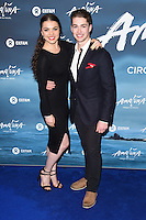 Chloe Hewitt and AJ Pritchard<br /> at the Cirque du Soleil &quot;Amaluna&quot; 1st night, Royal Albert Hall, Knightsbridge, London.<br /> <br /> <br /> &copy;Ash Knotek  D3218  12/01/2017