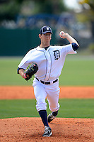 Detroit Tigers pitcher Pat Misch #30 during a minor league Spring Training game against the Washington Nationals at Tiger Town on March 22, 2013 in Lakeland, Florida.  (Mike Janes/Four Seam Images)
