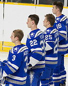 Johnny Hrabovsky (AFA - 3), Pierce Pluemer (AFA - 22), Tyler Rostenkowski (AFA - 25), Kyle Haak (AFA - 16) - The Harvard University Crimson defeated the Air Force Academy Falcons 3-2 in the NCAA East Regional final on Saturday, March 25, 2017, at the Dunkin' Donuts Center in Providence, Rhode Island.
