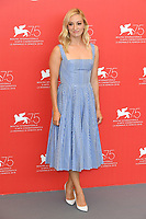 VENICE, ITALY - AUGUST 29: Olivia Hamilton attends the photocall for First Man during the 75th Venice Film Festival at Sala Grande on August 29, 2018 in Venice, Italy.<br /> CAP/BEL<br /> &copy;BEL/Capital Pictures
