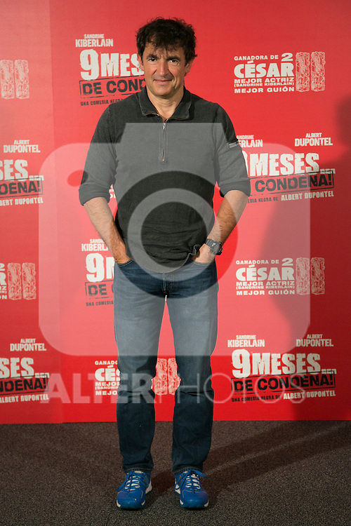 French Actor and Director Albert Dupontel attend the photocall at the presentation of his last movie '9 Mois ferme' at Hotel Santo Mauro in Madrid, Spain. April 08, 2014. (ALTERPHOTOS/Carlos Dafonte)