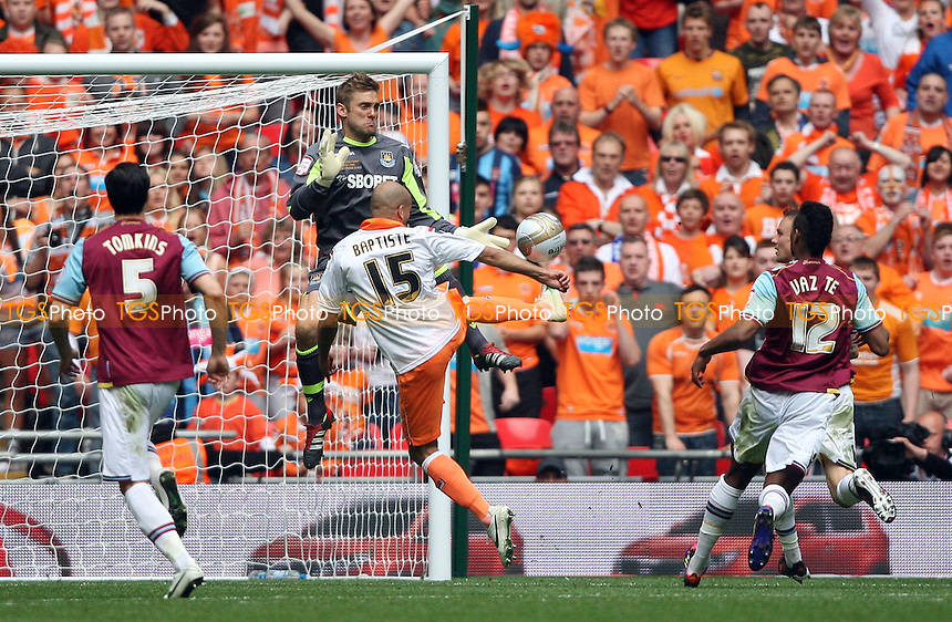 Robert Green of West Ham saves from Alex Baptiste of Blackpool - Blackpool vs West Ham United , npower Championship Play-off Final at Wembley Stadium, London - 19/05/12 - MANDATORY CREDIT: Rob Newell/TGSPHOTO - Self billing applies where appropriate - 0845 094 6026 - contact@tgsphoto.co.uk - NO UNPAID USE..