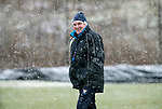 St Johnstone Training&hellip;22.01.19   McDiarmid Park<br />Manager Tommy Wright is all smiles during a snowy training session this morning ahead of tomorrw night&rsquo;s game against Livingston.<br />Picture by Graeme Hart.<br />Copyright Perthshire Picture Agency<br />Tel: 01738 623350  Mobile: 07990 594431