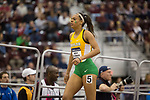 COLLEGE STATION, TX - MARCH 11: Leticia De Souza of Baylor competes in the women's 4x400 meter dash during the Division I Men's and Women's Indoor Track & Field Championship held at the Gilliam Indoor Track Stadium on the Texas A&M University campus on March 11, 2017 in College Station, Texas. (Photo by Michael Starghill/NCAA Photos/NCAA Photos via Getty Images)