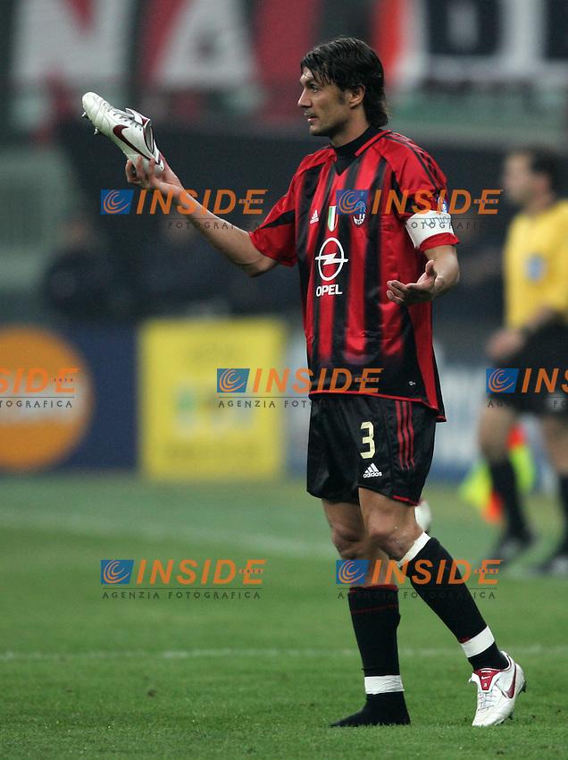 Milano 6/4/2005 Champions League quarter finals 1st leg<br /> Milan Inter 2-0 <br /> Paolo Maldini Milan<br /> Photo Andrea Staccioli Insidefoto