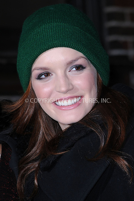WWW.ACEPIXS.COM . . . . . .March 3, 2011...New York City...Jennifer Damianos tape the Late Show with David Letterman on March 3, 2011 in New York City....Please byline: KRISTIN CALLAHAN - ACEPIXS.COM.. . . . . . ..Ace Pictures, Inc: ..tel: (212) 243 8787 or (646) 769 0430..e-mail: info@acepixs.com..web: http://www.acepixs.com .