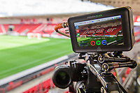 A general view of Keepmoat Stadium, home of Doncaster Rovers, seen through a television camera<br /> <br /> Photographer Chris Vaughan/CameraSport<br /> <br /> EFL Leasing.com Trophy - Northern Section - Group H - Doncaster Rovers v Lincoln City - Tuesday 3rd September 2019 - Keepmoat Stadium - Doncaster<br />  <br /> World Copyright © 2018 CameraSport. All rights reserved. 43 Linden Ave. Countesthorpe. Leicester. England. LE8 5PG - Tel: +44 (0) 116 277 4147 - admin@camerasport.com - www.camerasport.com