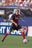 MetroStars' John Wolyniec. D. C. United was defeated by the NY/NJ MetroStars 3 to 2 during the MetroStars home opener at Giant's Stadium, East Rutherford, NJ, on April 17, 2004.