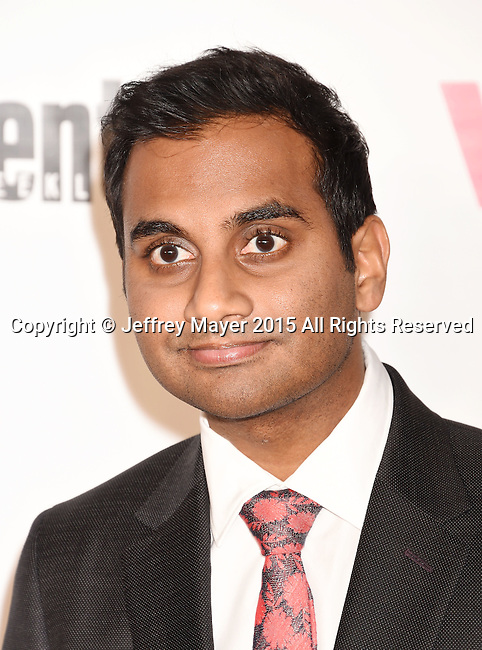 WEST HOLLYWOOD, CA - NOVEMBER 15: Actor Aziz Ansari attends VH1 Big In 2015 With Entertainment Weekly Awards at Pacific Design Center on November 15, 2015 in West Hollywood, California.