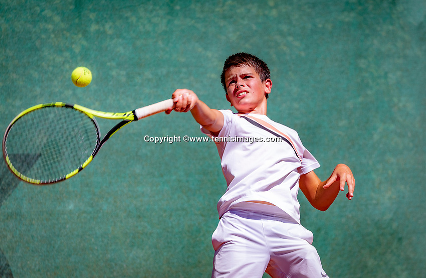 Hilversum, Netherlands, August 6, 2018, National Junior Championships, NJK, Pavel  Ofitserov (NED)<br /> Photo: Tennisimages/Henk Koster