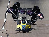 Feb 27, 2016; Chandler, AZ, USA; NHRA top fuel driver Steve Chrisman during qualifying for the Carquest Nationals at Wild Horse Pass Motorsports Park. Mandatory Credit: Mark J. Rebilas-