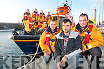 SAVED MY LIFE: Polish national Marcin Kadziora pictured with John McGibney and Kevin Deady at the front was rescued by the RNLI Volunteers on Saturday afternoon. Also pictured were: Terry Sheehy and Stephen O'Sullivan. John J Moriarty, Kevin Honeyman, John Williams, Kevin Moriarty