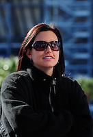 Apr. 4, 2011; Las Vegas, NV, USA: NHRA funny car driver Ashley Force Hood during testing at The Strip in Las Vegas. Mandatory Credit: Mark J. Rebilas-