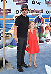 WESTWOOD, CA - JUNE 30: David Spade (L) and Harper Spade attend the Columbia Pictures and Sony Pictures Animation's world premiere of 'Hotel Transylvania 3: Summer Vacation' at Regency Village Theatre on June 30, 2018 in Westwood, California.