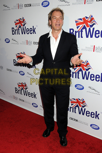 Julian Sands.BritWeek 2012 Official Launch held at a Private Residence, Los Angeles, California, USA..April 24th, 2012.full length black suit white shirt hands .CAP/ADM/BP.©Byron Purvis/AdMedia/Capital Pictures.