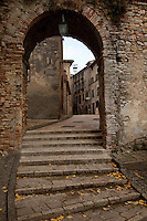 Stone village hill town of Montone in Umbria region of Italy