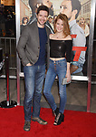 HOLLYWOOD, CA - FEBRUARY 13: Actor Topher Grace (L) and actress Ashley Hinshaw attend the premiere of Warner Bros. Pictures' 'Fist Fight' at the Regency Village Theatre on February 13, 2017 in Westwood, California.