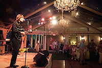 Beatles tribute band steps on stage for surprise 60th Birthday Bash at Old Collier Country Club in Naples, Florida, USA, April 13, 2012. Photo by Debi Pittman Wilkey