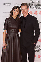 Benedict Cumberbatch and Sophie Hunter arriving for the Moet British Independent Film Awards 2014, London. 07/12/2014 Picture by: Alexandra Glen / Featureflash