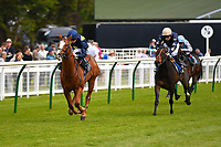 Winner of The Simon & Nerys Dutfield Memorial Novice Stakes  Sybolize ridden by David Probert and trained by Andrew Balding   during Afternoon Racing at Salisbury Racecourse on 16th May 2019
