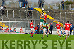 Action from Kerry v Cork in the U20 John Kerins Cup football game in Austin Stack Park on Saturday.