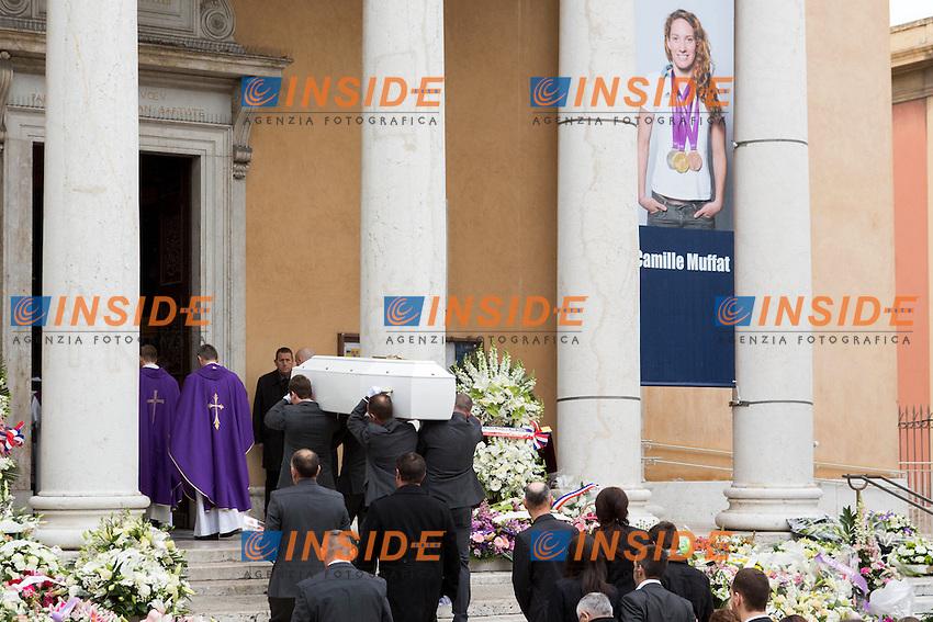 Nizza 25-03-2015 Chiesa St Jean <br /> Funerali Camille Muffat <br /> Foto NICOLAS GAVET / PANORAMIC / Insidefoto
