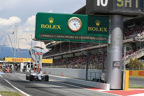 May 14th 2017, Circuit de Barcelona, Catalunya, Spain; Spanish Formula One Grand Prix; Sunday Race Day;  Felipe Massa - Williams Martini Racing FW40