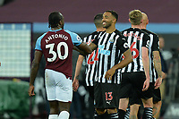Michail Antonio of West Ham United and Callum Wilson of Newcastle United at the final whistle during West Ham United vs Newcastle United, Premier League Football at The London Stadium on 12th September 2020