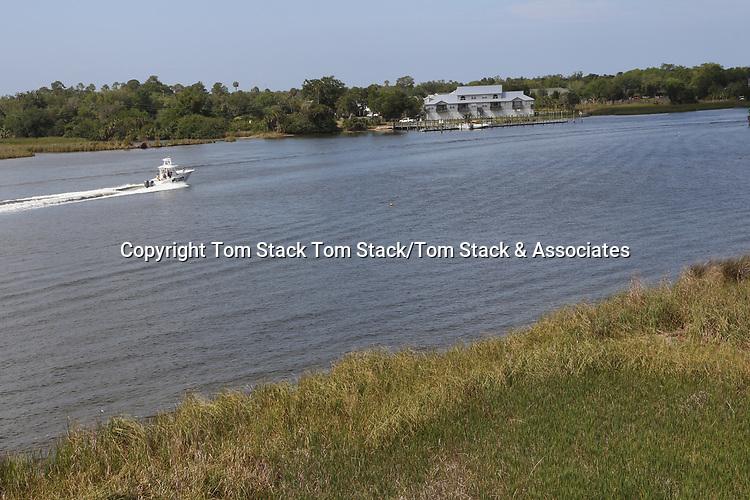Boating on Crystal River, Florida