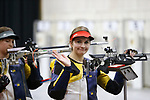 COLUMBUS, OH - MARCH 11:  Morgan Phillips, of West Virginia University, waves to fans during the Division I Rifle Championships held at The French Field House on the Ohio State University campus on March 11, 2017 in Columbus, Ohio. Phillips finished second in the individual championship with a score of 207.2. (Photo by Jay LaPrete/NCAA Photos via Getty Images)