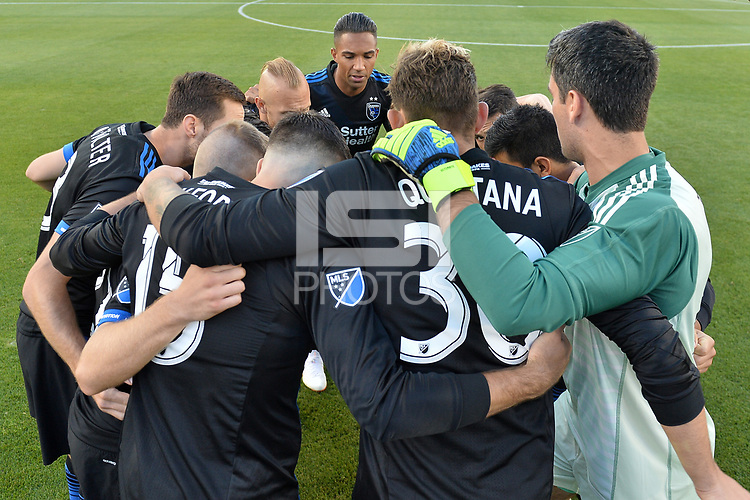 San Jose, CA - Wednesday June 13, 2018: San Jose Earthquakes  prior to a Major League Soccer (MLS) match between the San Jose Earthquakes and the New England Revolution at Avaya Stadium.