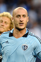 Aurelien Collin Sporting KC defender... Sporting KC defeated San Jose Earthquakes 1-0 at LIVESTRONG Sporting Park, Kansas City, Kansas.