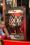 2016 Licensing Show Mandalay Bay, WWE Booth Live action figures marketing photos op