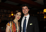 Marina Squerciati and boyfriend pose at the after party at Sardis for the Opening Night of Manipulation on June 28, 2011 at the Cherry Lane Theatre, New York City, New York. (Photo by Sue Coflin/Max Photos)
