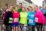 Killian Kelly, Dympna Lawlor, Alan O'Sullivan, Colette O'Sullivan, Evelyn O'Connell and Jenny O'Sullivan at the start of the Kerry's Eye Tralee, Tralee Half Marathon on Saturday.